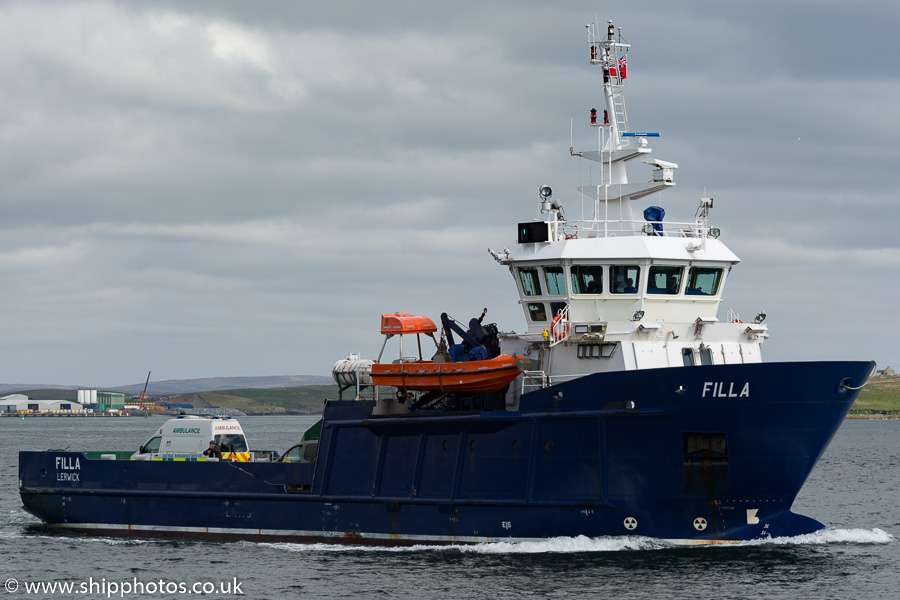 Filla pictured arriving at Lerwick on 20th May 2015