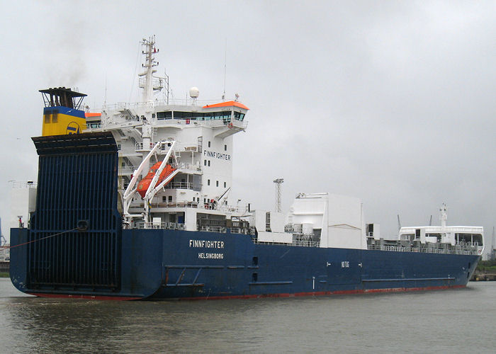 Finnfighter pictured entering Tilbury Docks on 17th May 2008