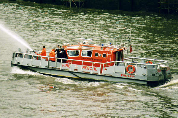 Fireflash pictured in London on 16th June 2000