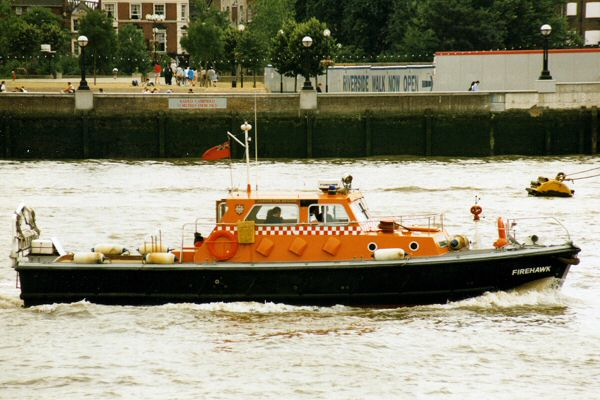 Firehawk pictured in London on 19th July 1995