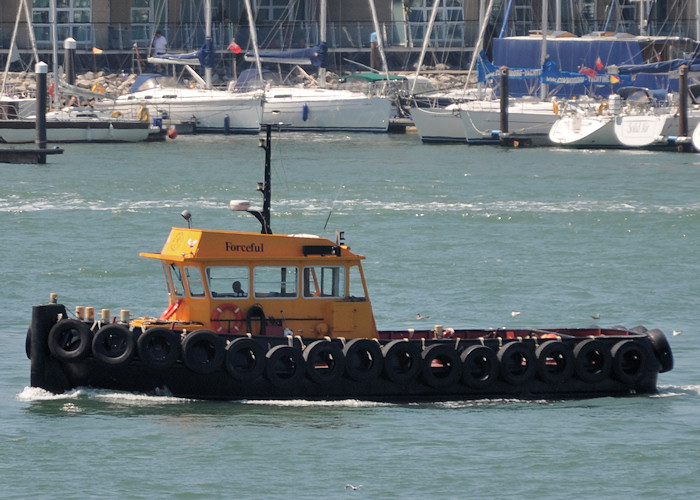 Forceful pictured in Portsmouth Harbour on 23rd July 2012