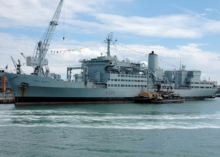 Fort Austin pictured in Portsmouth Naval Base on 13th June 2009