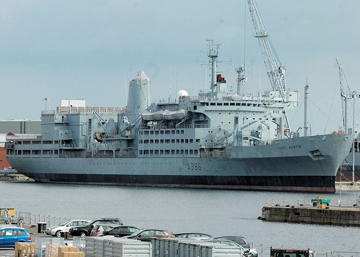 Fort Austin pictured laid up in Portsmouth Naval Base on 14th August 2010