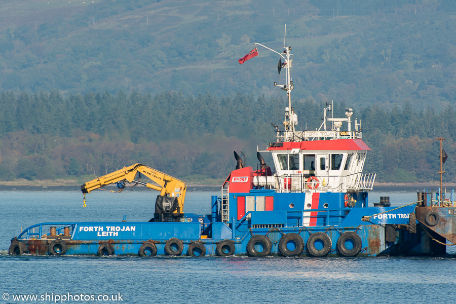 Forth Trojan pictured passing Greenock on 16th October 2015