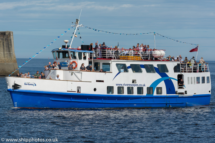 Fortuna pictured off Tynemouth on 27th August 2017