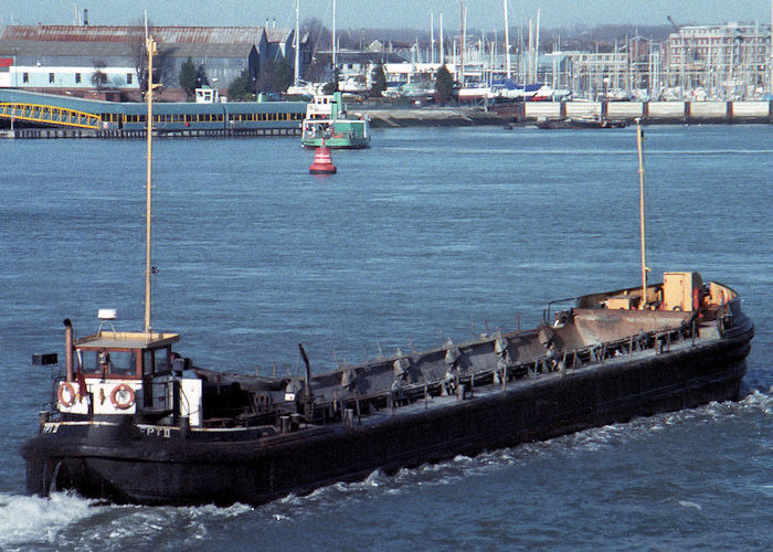 FPT II pictured entering Portsmouth Harbour on 7th February 1988