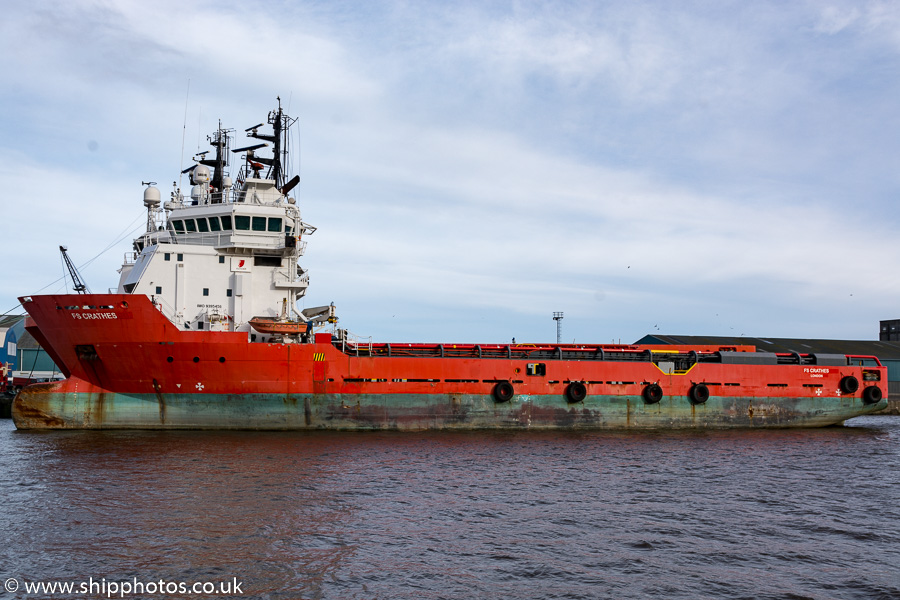 FS Crathes pictured at Leith on 9th February 2019
