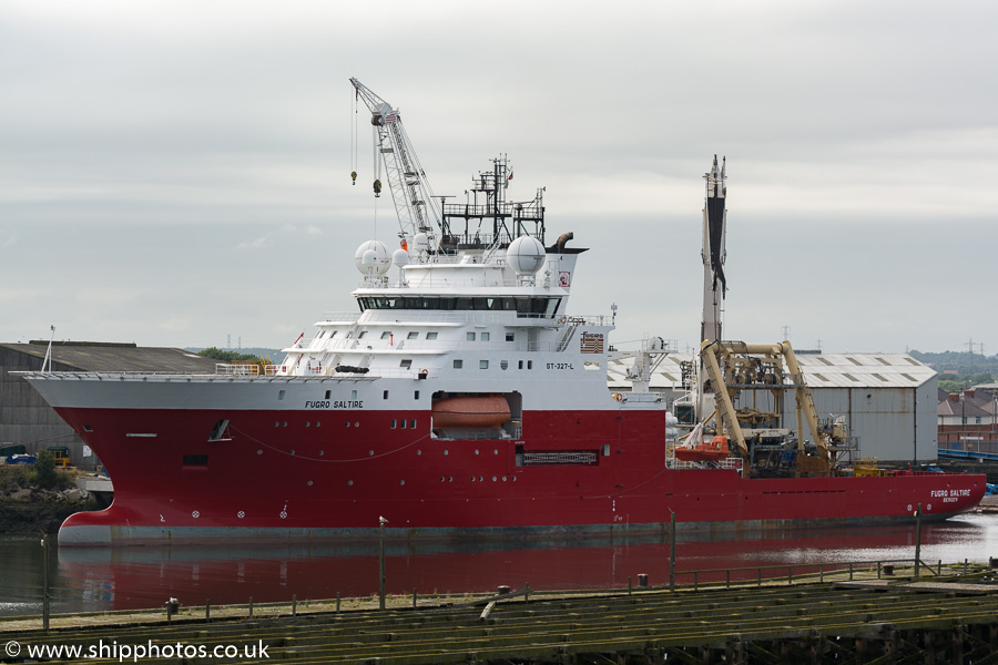 Fugro Saltire pictured at Blyth on 22nd August 2015