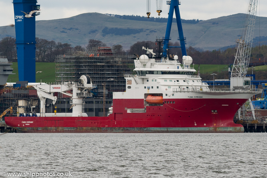 Fugro Symphony pictured at Rosyth on 16th April 2016