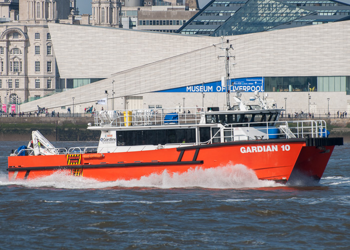 Gardian 10 pictured passing Wallasey on 31st May 2014