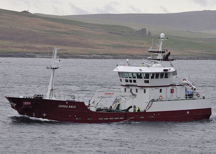 Gerda Sæle pictured arriving at Lerwick on 12th May 2013