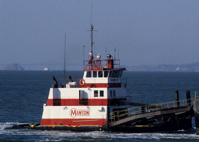 Gladys M pictured in San Francisco Bay on 13th September 1994