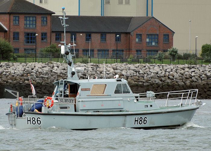 Gleaner pictured on the River Mersey on 31st July 2010
