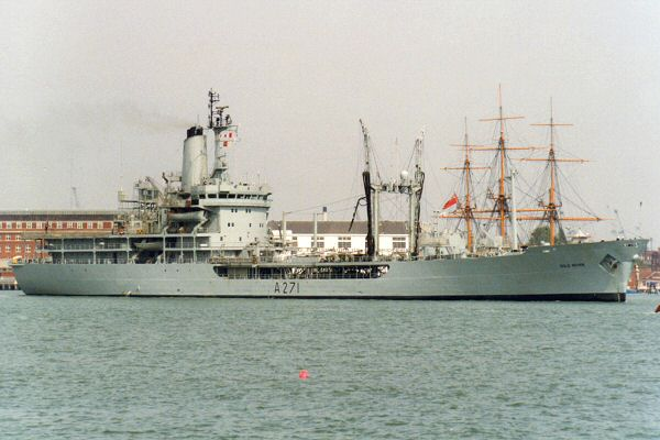 Gold Rover pictured departing Portsmouth Harbour on 1st May 1995