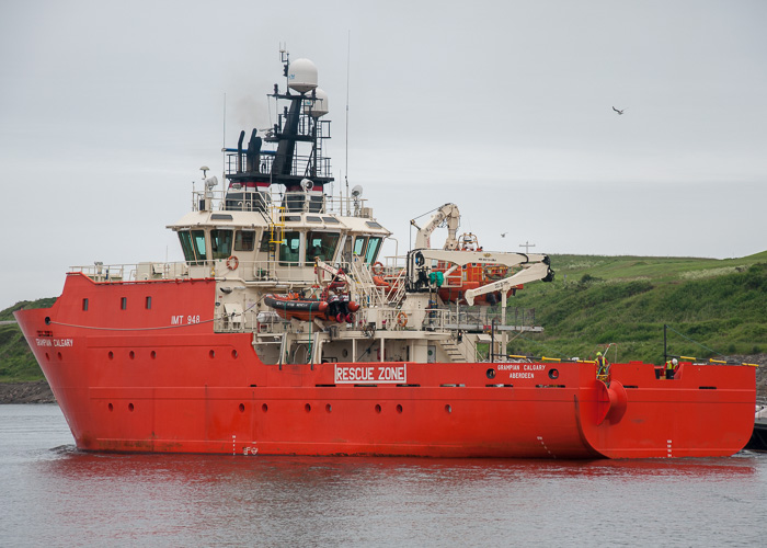Grampian Calgary pictured departing Aberdeen on 13th June 2014