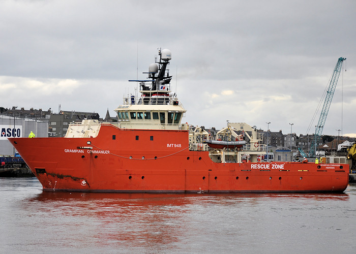 Grampian Commander pictured departing Aberdeen on 16th September 2012