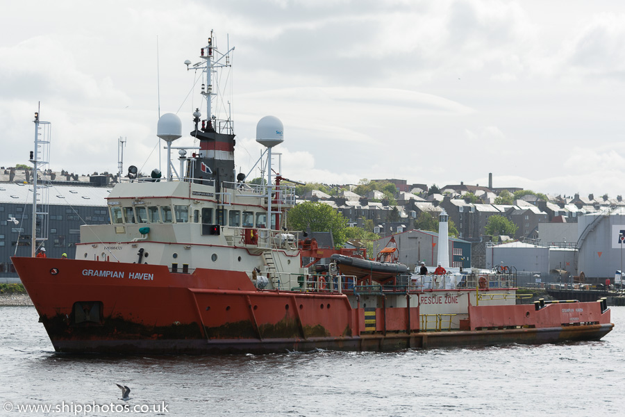 Grampian Haven pictured departing Aberdeen on 22nd May 2015