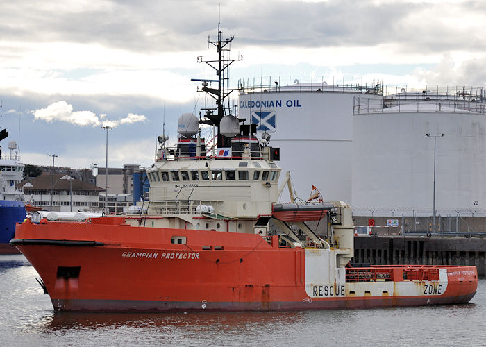 Grampian Protector pictured departing Aberdeen on 14th September 2013