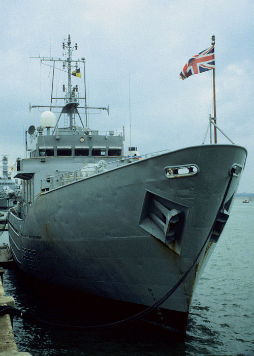 Guernsey pictured in Portsmouth Naval Base on 27th May 1996