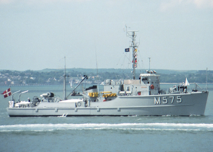 Guldborgsund pictured entering Portsmouth Harbour on 5th June 1988