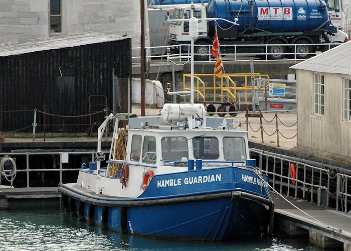 Hamble Guardian pictured in Portsmouth Naval Base on 6th August 2011