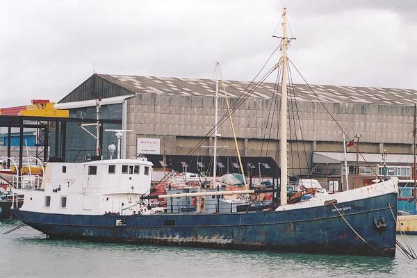 Hamnfjord pictured laid up in Southampton on 22nd July 2001