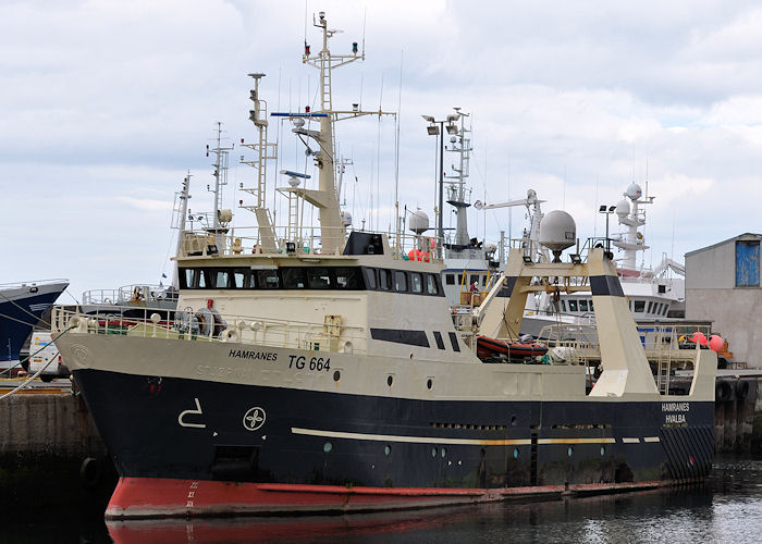 Hamranes pictured at Fraserburgh on 6th May 2013