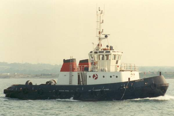 Hamtun pictured in Southampton on 10th June 1989