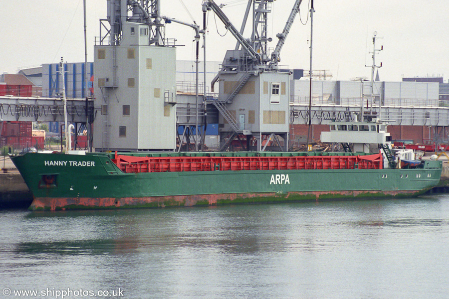 Hanny Trader pictured in Southampton on 6th July 2002