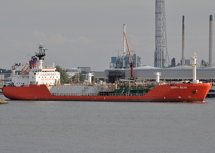 Happy Bear pictured departing 1e Petroleumhaven, Rotterdam on 25th June 2012