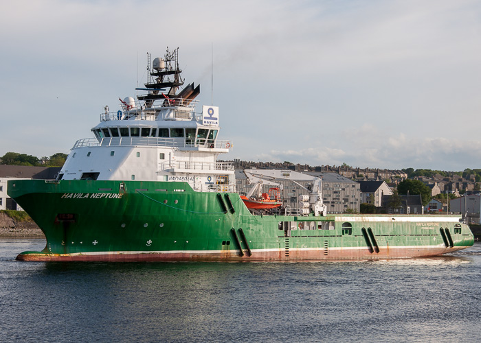 Havila Neptune pictured departing Aberdeen on 8th June 2014