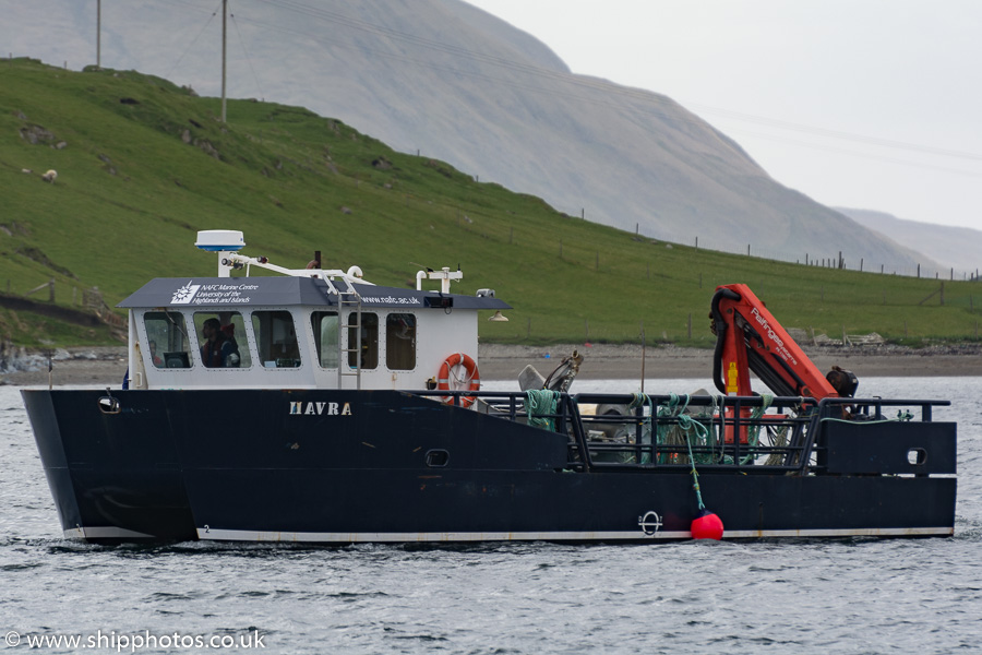 Havra pictured arriving at Scalloway on 20th May 2015