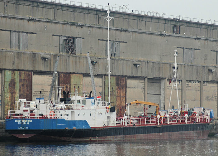 Henty Provider pictured in Liverpool Docks on 27th June 2009