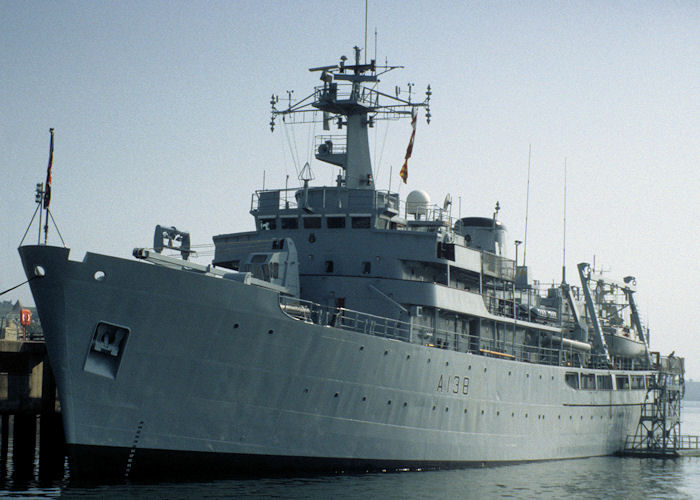 Herald pictured in Devonport Naval Base on 27th September 1997