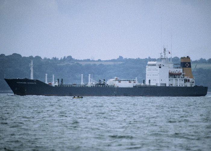 Hermann Schulte pictured in the Solent on 13th July 1997