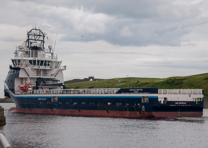 Highland Chieftain pictured departing Aberdeen on 12th June 2014