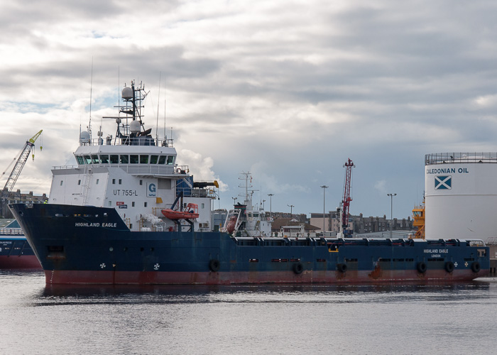 Highland Eagle pictured departing Aberdeen on 11th October 2014