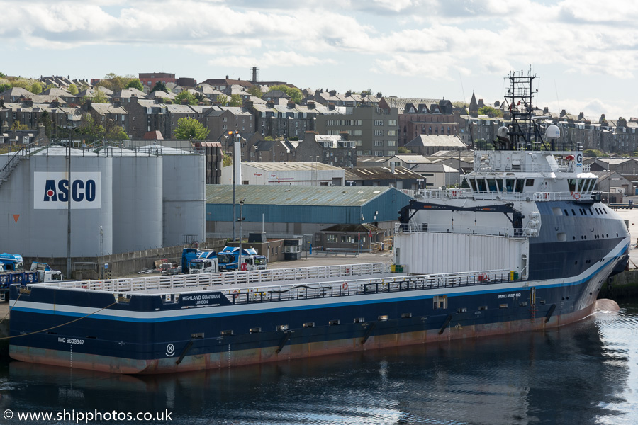 Highland Guardian pictured at Aberdeen on 17th May 2015