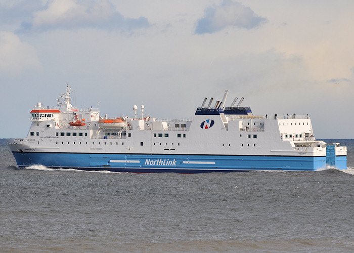 Hjaltland pictured departing Aberdeen on 15th April 2012