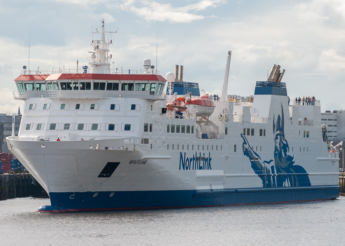 Hjaltland pictured departing Aberdeen on 10th June 2014