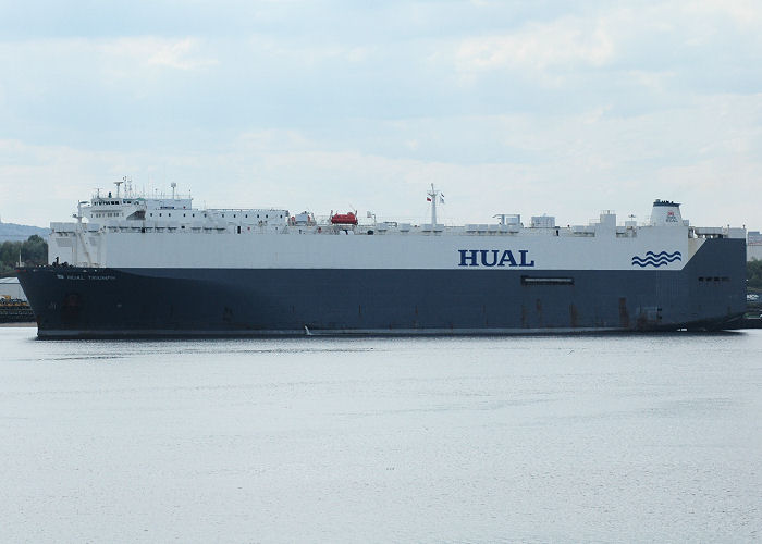 Hual Triumph pictured at the Tyne Car Terminal at Jarrow on 11th May 2005