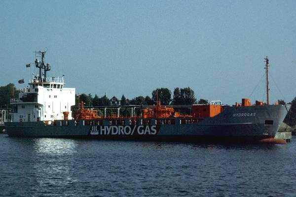 Hydrogas pictured at Fredericia on 29th May 1998