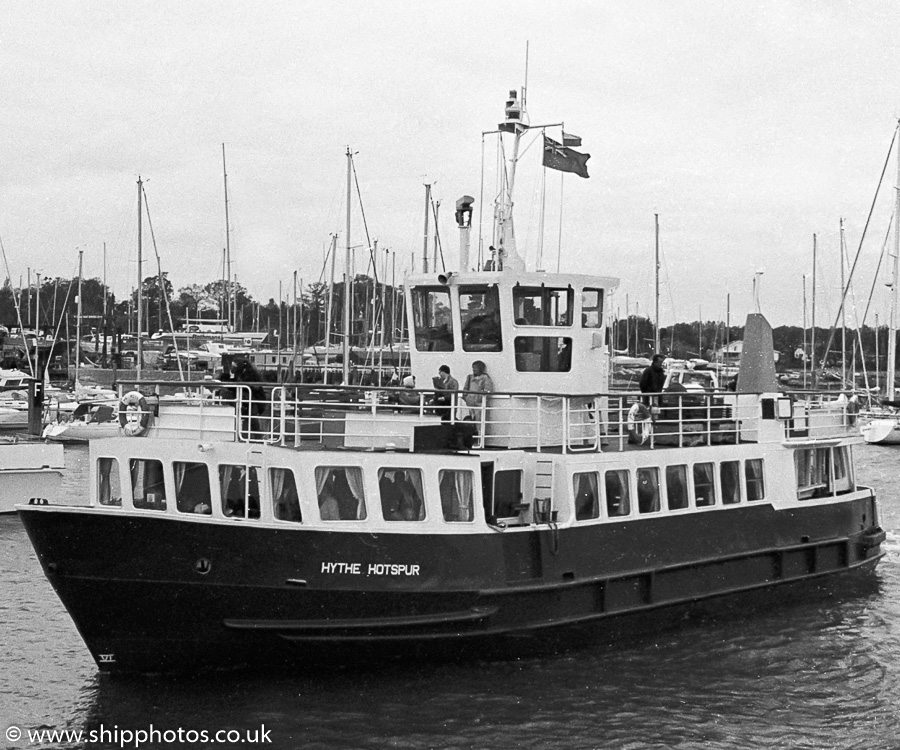 Hythe Hotspur pictured on the River Hamble on 30th April 1989