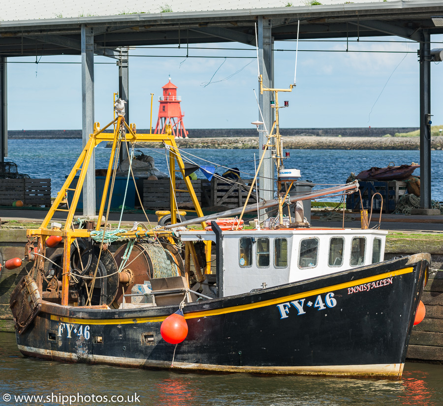 Innisfallen pictured at the Fish Quay, North Shields on 20th June 2019