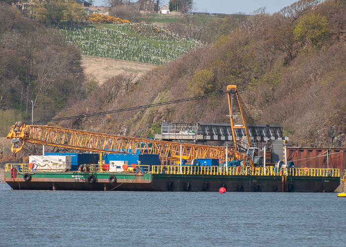 Isabela S pictured at the new Forth Crossing at Queensferry on 20th April 2014
