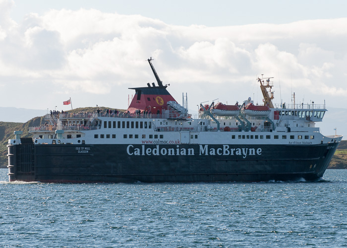 Isle of Mull pictured departing Oban on 20th September 2014
