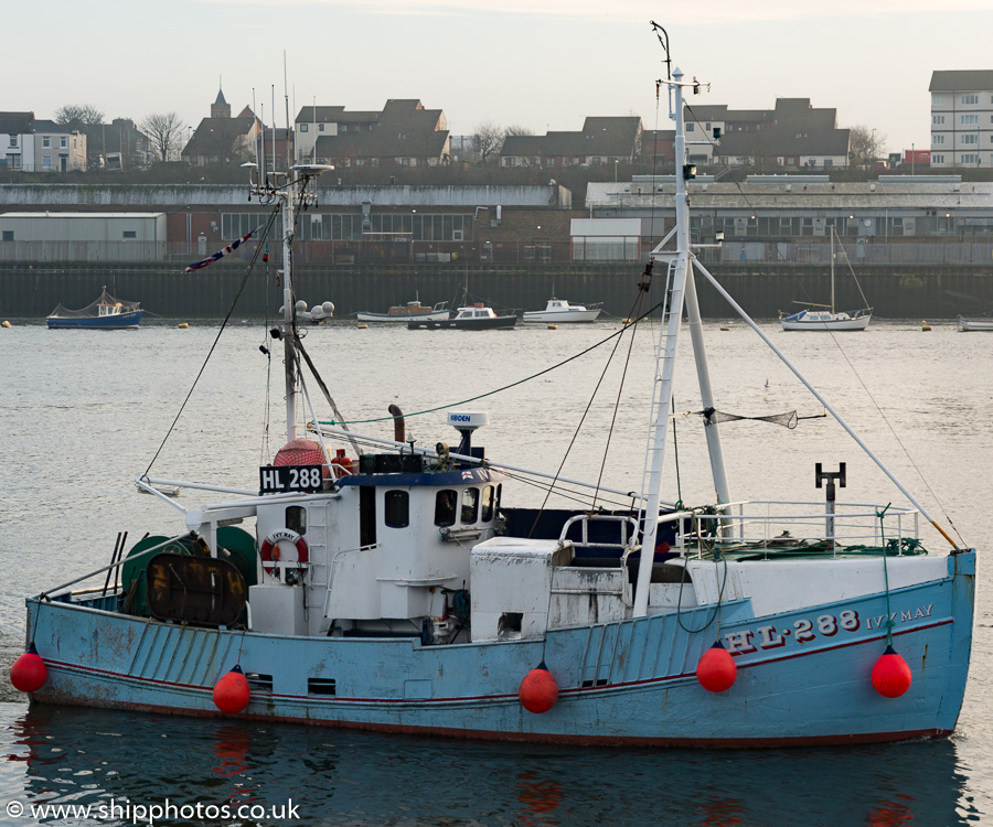 Ivy May pictured arriving at the Fish Quay, North Shields on 16th December 2016
