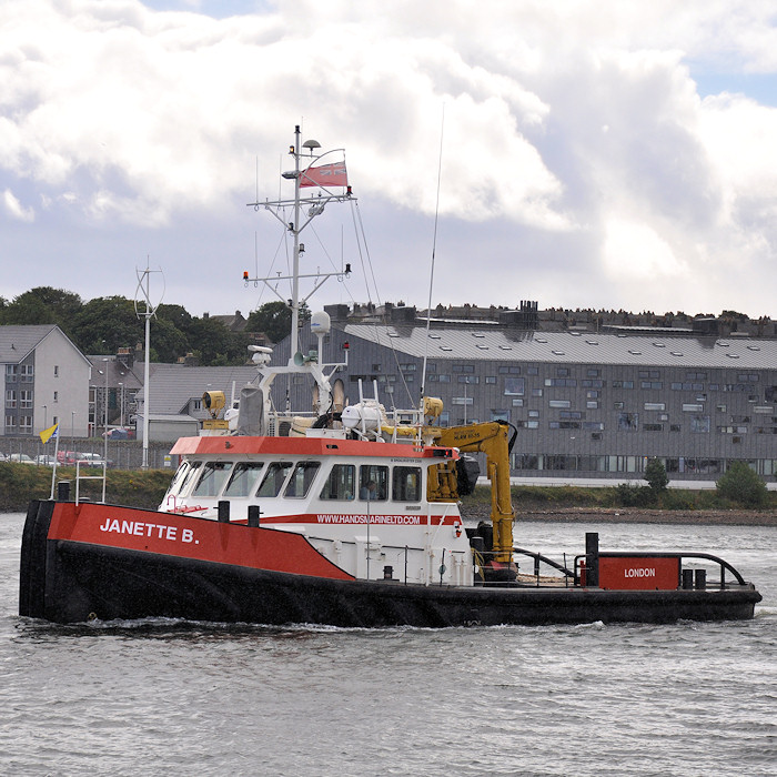 Janette B pictured departing Aberdeen on 14th September 2012