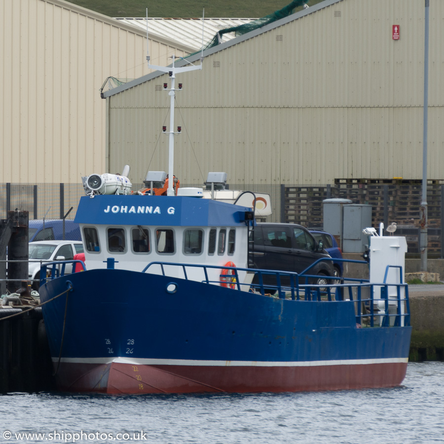 Johanna G pictured at Scalloway on 20th May 2015