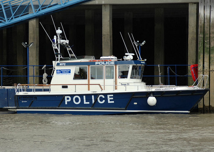 John Harriott III pictured at Wapping on 1st May 2006